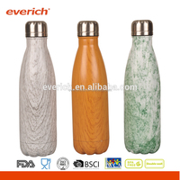 500ml Handle Cap Double Walled Vacuum Stainless Steel Insulated Water Bottle