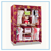 2015 home storage wardrobe solid wood Cloth Wardrobe