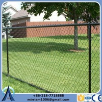 Low price PVC coated chain link fence with polyurethane foam RAL 6005 ( Made in China)