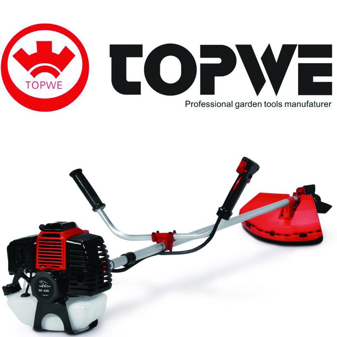 TOPWE CN-430 43CC 1250W Brush cutter garden tools gasoline grass cutter grass trimmer chinese brush cutter
