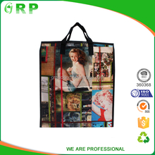 Hot sale folding reusable lamination pp woven foldable grocery shopping bag