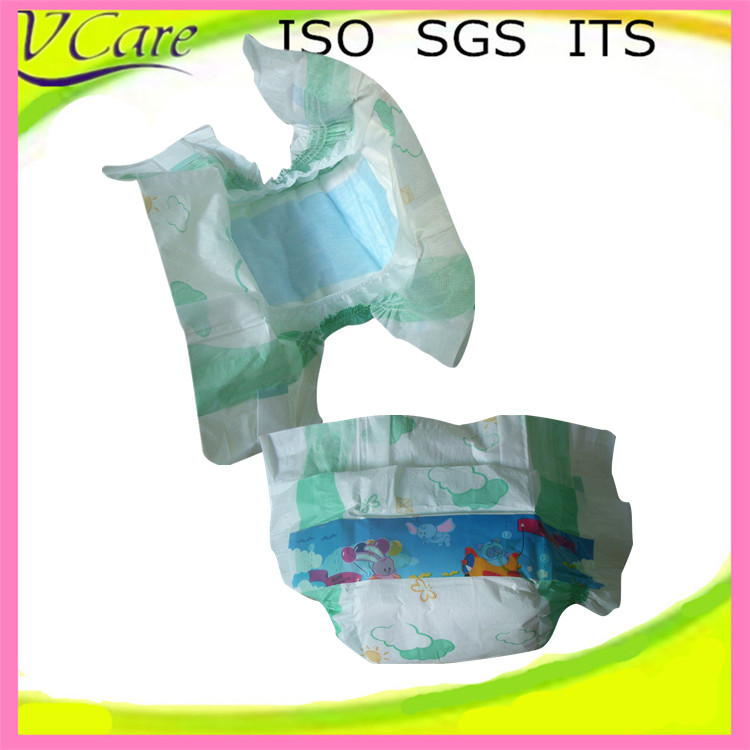 Cheap price disposable printed baby fine diapers in bulk