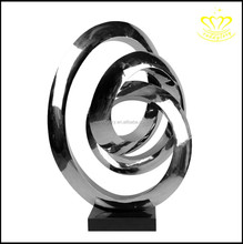 Custom stainless steel Metal abstract sculpture large hotel lobby home decor