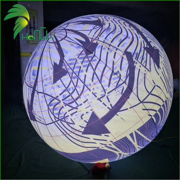 Light Helium Inflatable Balloon / Custom Hanging LED Light Illuminated Balloons for Advertising Event