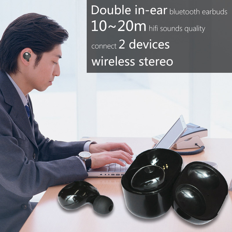Wireless bluetooth earphone cordless phone with cordless headset with bluetooth function for sport