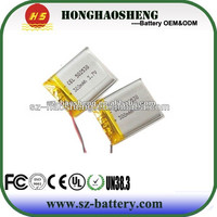 Prismatic rechargeable lithium polymer battery 3.7v 300mah 502530 li-ion battery for wireless mouse