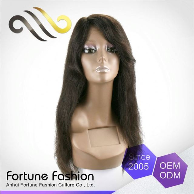 Low Cost 100 Precent Real Front Blonde Malaysian Human Hair Full Lace Wig