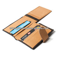 tan leather business credit card holders / credit card/id card holders / handmade leather wallet card cases
