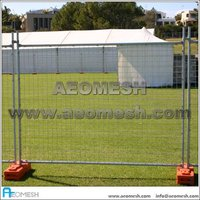 Movable and Removable Galvanized Welded Temporar Fence temporary fence feet