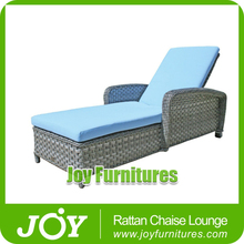 Blue Fabric Chaise Lounge