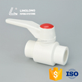 High pressure plastic ball valve