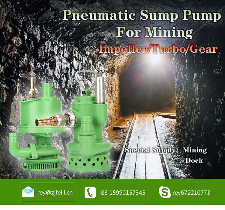 water submersible pump for mine pneumatic sewage pump producer