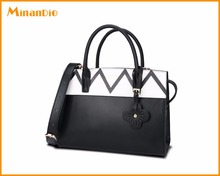 Brand name Minandio handbags Classic black color fashion women tote bag high capacity new summer design