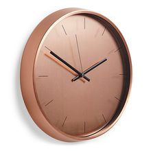 Rose gold round aluminium wall clock 12 inches simple north europe style