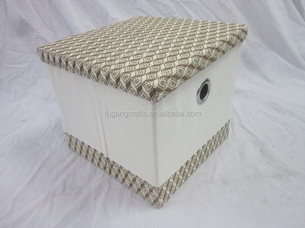 set 3 faltbaren papier und stoff aufbewahrungsbox mit deckel w schtasche und korb produkt id. Black Bedroom Furniture Sets. Home Design Ideas