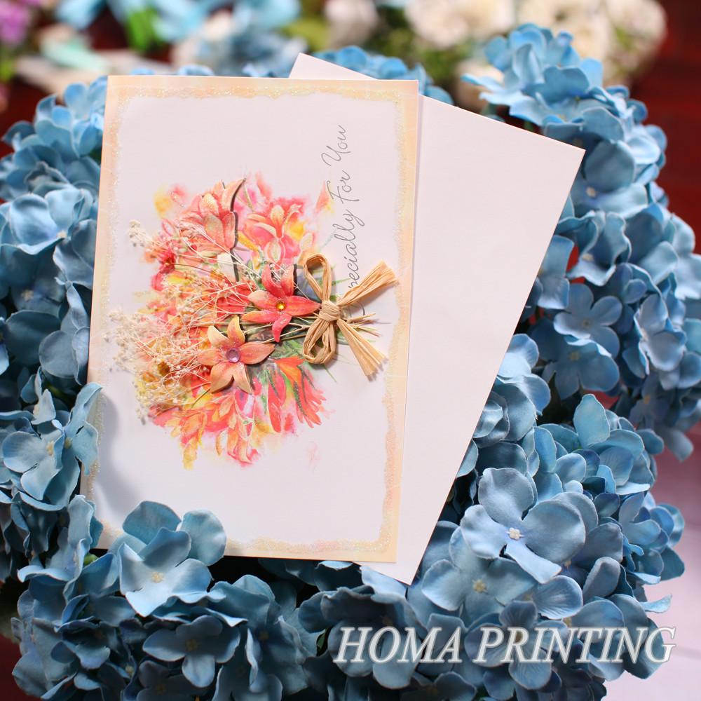 Открытки с сухими цветами 84