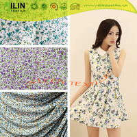 4 way stretch knitted floral printed polyester FDY jersey made in China