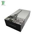 Custom book shaped magnetic luxury paper cardboard perfume bottle packaging box