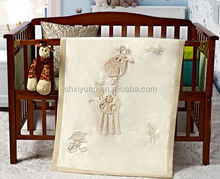 Small comfortable deer plush baby blanket/blanket for babies/super soft plush blankets