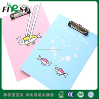 Customized A4 Plastic Paper/ Document Folder/PVC Paper Embossing Paper Hanging a4 paper Clip File Folder