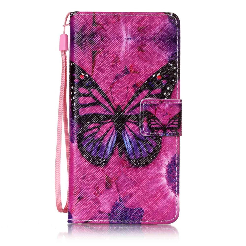 Painted Flip Case Wallet Leather Cover for Huawei P9 Colored Drawing flip case