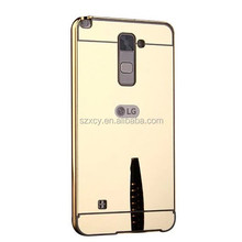 Mobile Accessories Back Cover For LG stylus 2 Mirror Aluminum Case