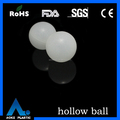 PP 46mm clear plastic hollow ball with washing machine parts