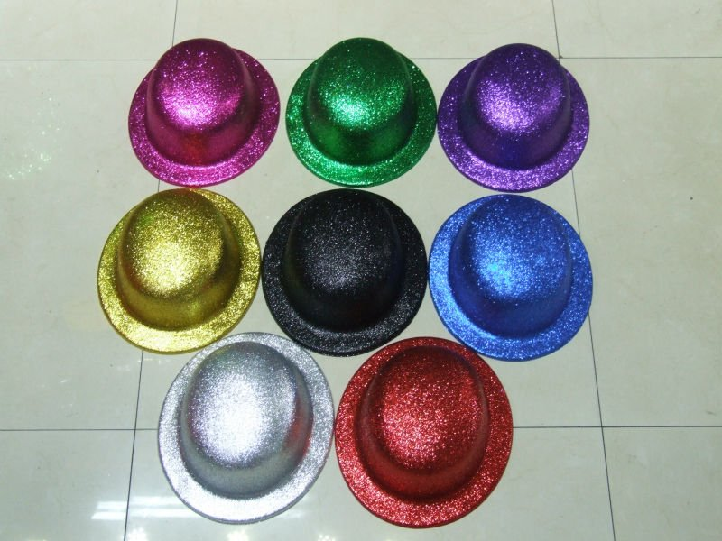 Plastic Glitter Festival Party Hats