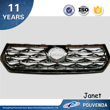 ABS Chrome Front Grille For Toyota Highlander 2012+ middle insect nets Auto accessories from pouvend