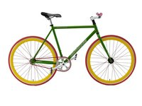 Colourful aluminium fixed gear bicycle