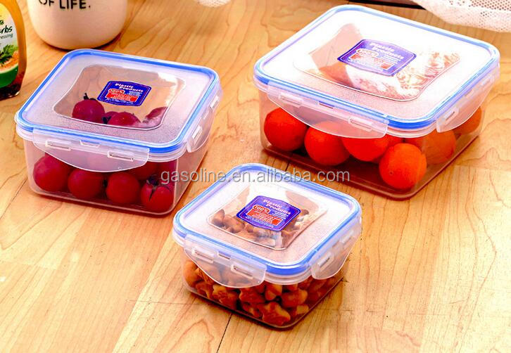 Super quality elegant plastic sealable glass food container