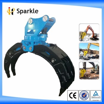 SPARKLE mechanical/hydraulic timber claw/mechanical grapple/manual grapple