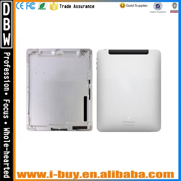 Original For iPad 2 Retina Wifi Version Back housing Back Cover Rear Case With Logo Silver