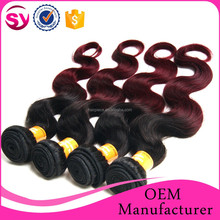 cheap wholesale wet and wavy ombre colored indian human hair weave, indian hair extensions wholesale
