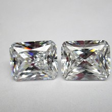 13*18mm octagon rectangle shape white color cubic zirconia loose gemstone