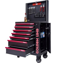 mobile roller toolbox and tool trolley with cabinet handle tool set for cart repair