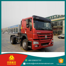 SINOTRUK HOWO 4*2 336hp Left/Right Hand Driving double guiding axle tractor truck price