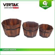 Good services professional 3pcs wooden garden plant pot set