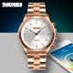 New good skmei 1324 hybrid bluetooth connected watch smart quartz watches gold