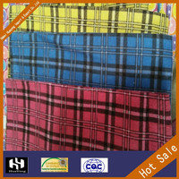 100% cotton custom printed wholesale flannel shirt fabric