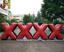 Customized PVC Tarpaulin Inflatable Paintball X Bunker For Archery Tag