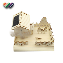 New Design High Quality 3D Wooden Puzzle House For Kids