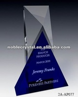 Noble Blue and Clear Crystal Combine Award High point plaque