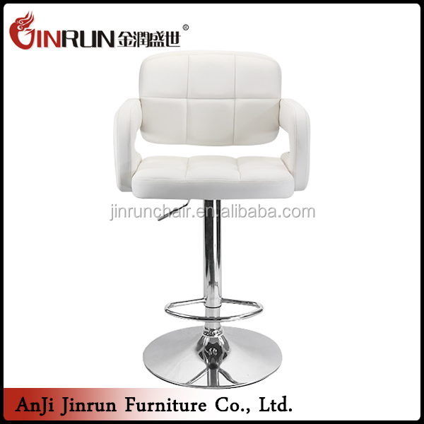 Supplier Customize white adjustable bar stools
