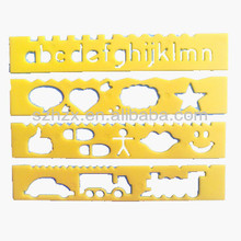 15.5cm PP Plastic Template Stencil Ruler for Kids