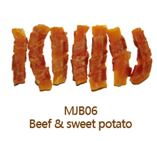 Beef Jery and Sweet Potato Dry Dog Treats Bulk Pets and Dogs Food Factory Dog Chews
