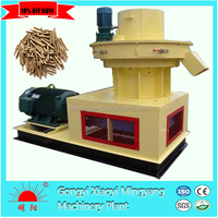 output 1.5t/h capacity double layer straw biomass wood pellet mill machine