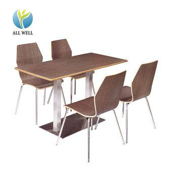 Cheap fast food Restaurant Furniture dining table