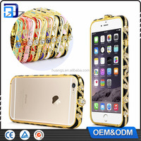 Newest Retro Style Bumper Diamond Crystal Metal Bumper Colourful Phone Protective For iPhone 5 5S Case Cover