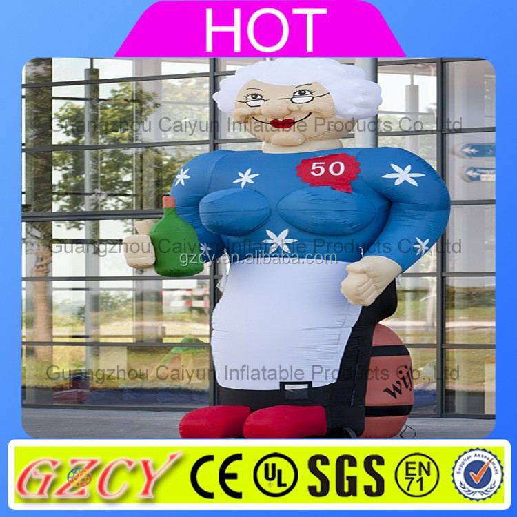 Outdoor giant advertising inflatable model ,inflatable kind old man for advertising